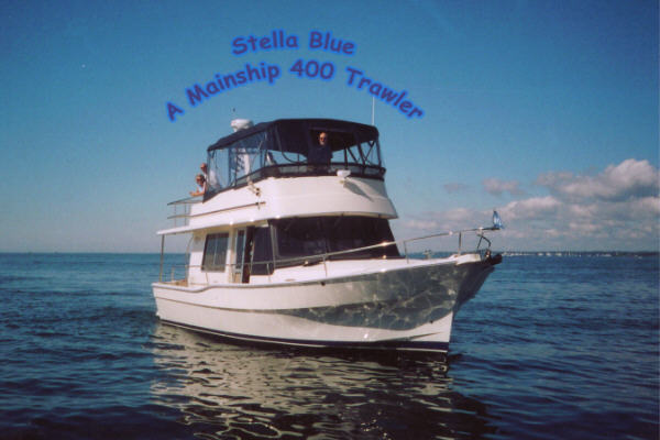 Stella Blue is a 2003 Mainship 400 Trawler owned by ...